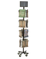 Black Freestanding Literature Carousel
