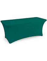 Stretch table cloth with fitted skirt