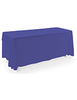 Royal blue 3-sided event table cloth with 6 foot length
