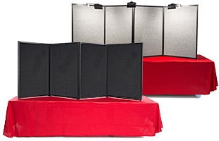 4-panel tabletop display boards