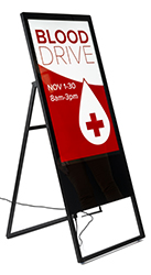 Portable digital A-frame sign