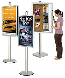 6ft. Silver Ad Stands