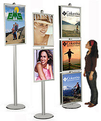 8ft. Silver Poster Stands