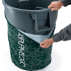 commercial trash cans