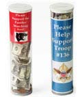 Donation jars are ideal for collecting and fundraising in schools