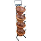 Tiered Wicker Tray Stand with 4 Baskets