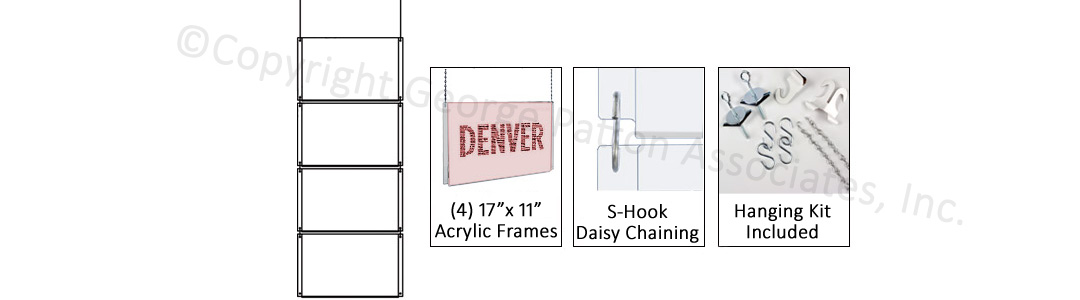 This Commercial Hanging Sign Supply Grid Frame Boasts Crystal Clear ...