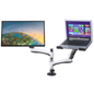 Adaptable Media Component Monitor Arm with Laptop Stand