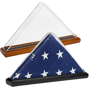Display cases for 5 x 8 flags