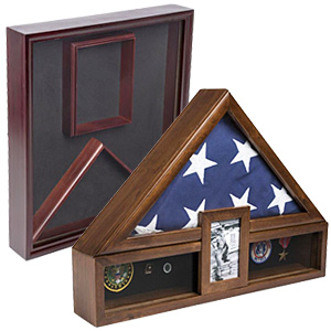 Display cases for 5 x 9.5 flags