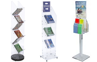 Clear Acrylic Literature Stands