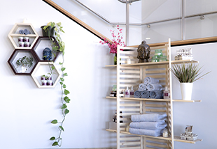 Retail Shelving in Spa Setting