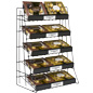 Freestanding 5 Tier Wire Countertop Rack