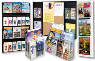 Literature Displays For Advertising Events With Pocket