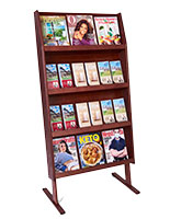 Wood Literature Stands
