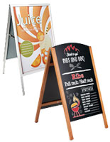 Restaurant Sign Holders Sidewalk Signs Menu Boards Table Tents - Restaurant table signs