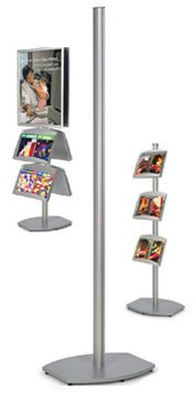 6 foot aluminum poster display stand