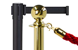 Stanchions for Crowd Control