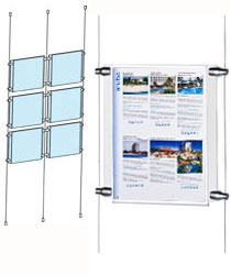 8.5x11 floor to ceiling cable displays