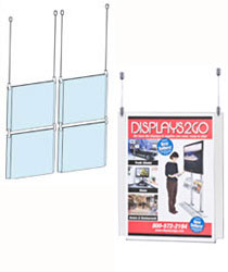 8.5x11 hanging cable displays