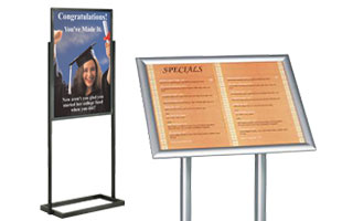 Image result for Floor standing poster holders