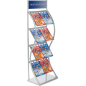 Silver Pop Up Literature Stand