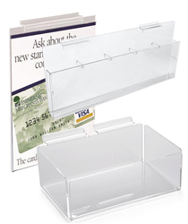 slatwall bins, trays and sign holders