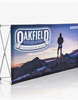 Quick fabric table banner with custom graphics