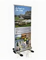 Custom printed outdoor retractable banner stand.