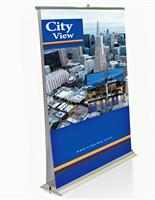 Double-sided printed retractable banner stand