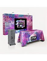 10' quick fabric pop up trade show package