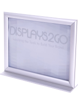 11 x 8.5 Stand Up Sign Holder with Frame