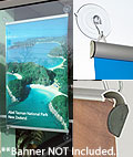 suction cup poster hanger