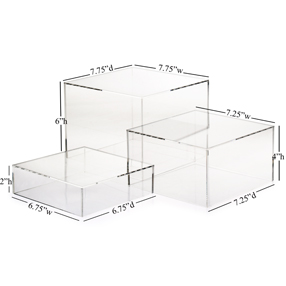 Clear Acrylic Cube Set Of 3