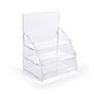 Three tiered acrylic retail countertop rack is the perfect size