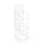 Folding acrylic 3 tier retail display case with header
