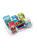 4-Compartment Acrylic Display Box for Countertop Placement