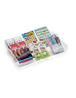 7-Section Acrylic Accessory Box with Open Top