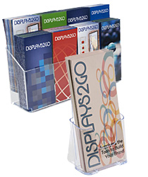 Acrylic Countertop Brochure Holders with Multi and Single Pocket Designs