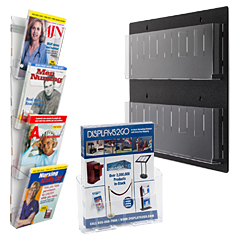 Acrylic Magazine Holder Wall Mounts