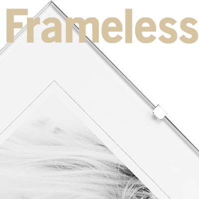 frameless acrylic & glass picture frames