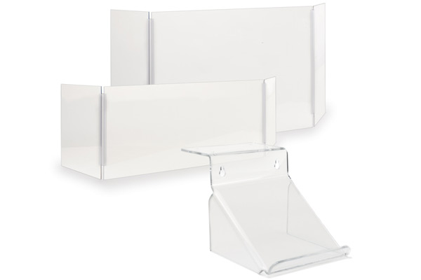 Medical office reception acrylic sneeze guards
