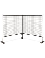 Lightweight portable vendor display wall with iron construction for countertop