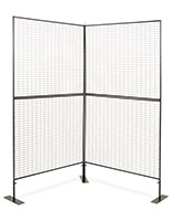 Double sided art display grid panels with iron construction