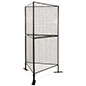 3-sided wire grid art display rack is overall 45 x 75 x 45