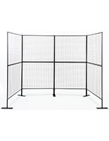 100 x 75 x 40 u-shaped art fair wire display wall