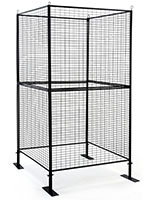4 sided craft booth metal grid panels
