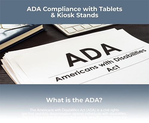 Displays2go ADA Compliant Tablet Stand Graphic