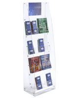 Acrylic Brochure Stand with 8 to 16 Pockets