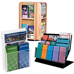 Countertop Literature Holders with Adjustable Pockets
